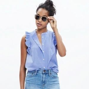 Madewell End to End Pintucked Blouse!